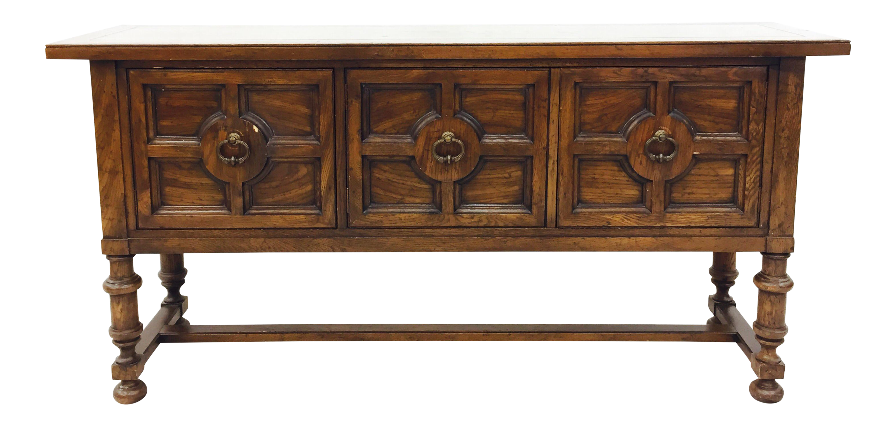 Vintage Wooden Console Table On Chairish Com Wooden Console Table Sideboard Buffet Wooden
