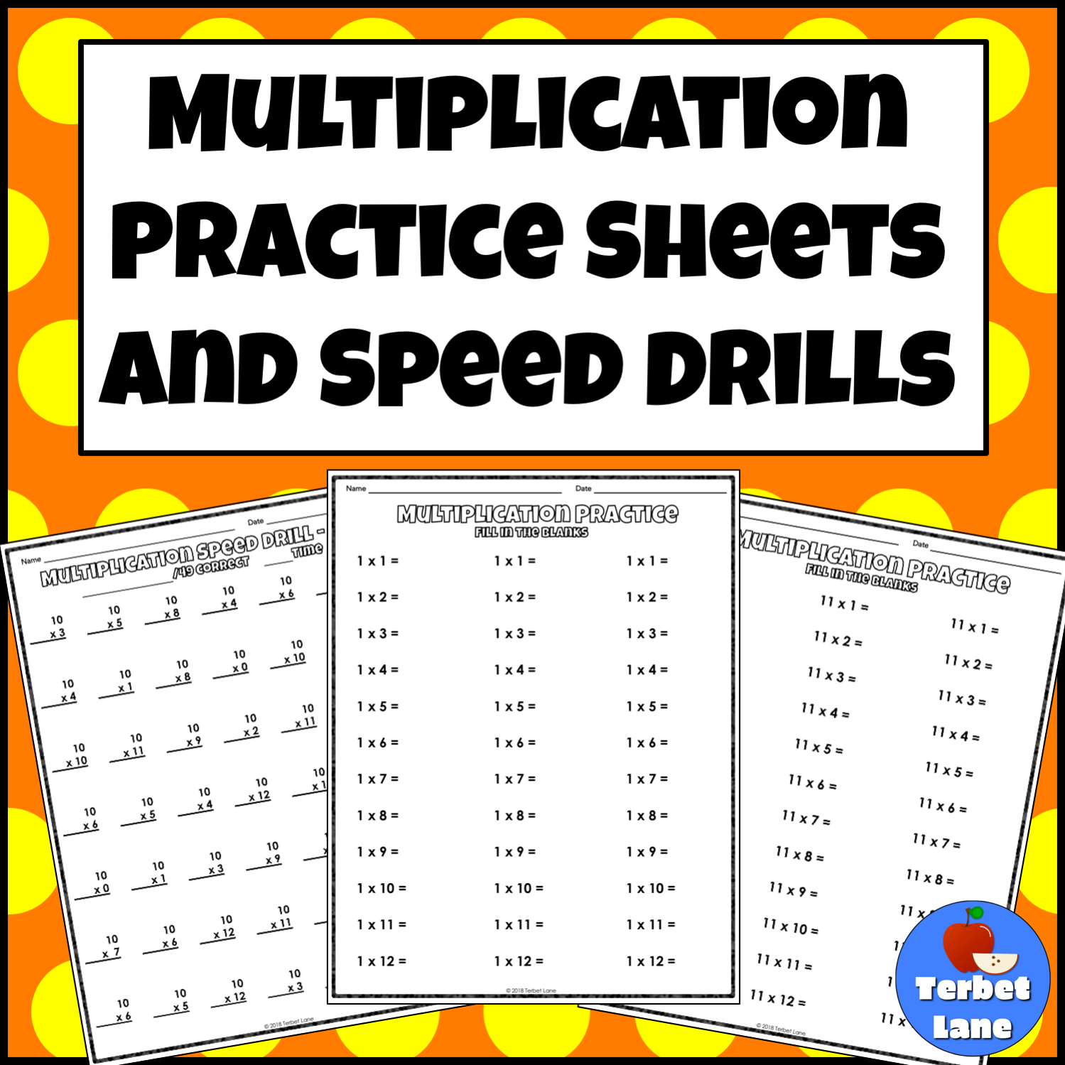 Multiplication Practice Sheets And Speed Drills From