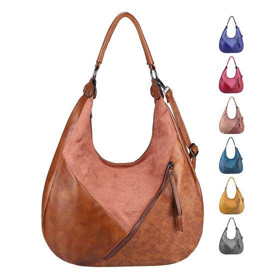 Photo of OBC Damen Tasche Shopper Tote Bag Hobo Bag Handtasche Umhängetasche Schultertasche Beuteltasche Leder Optik Crossover