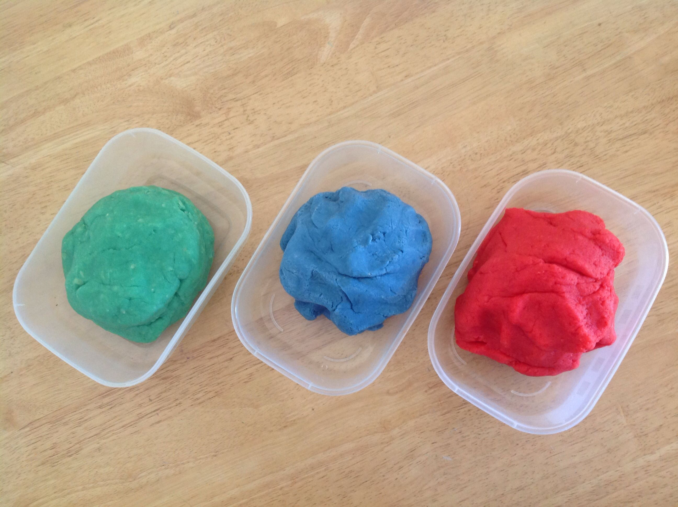 Homemade play dough. Safe for kids although advise to keep away from pets.