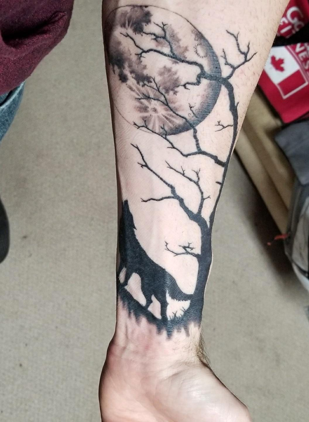 Wolf and Moon done by Mike Seymore, Studio Maxx. Newfoundland ...