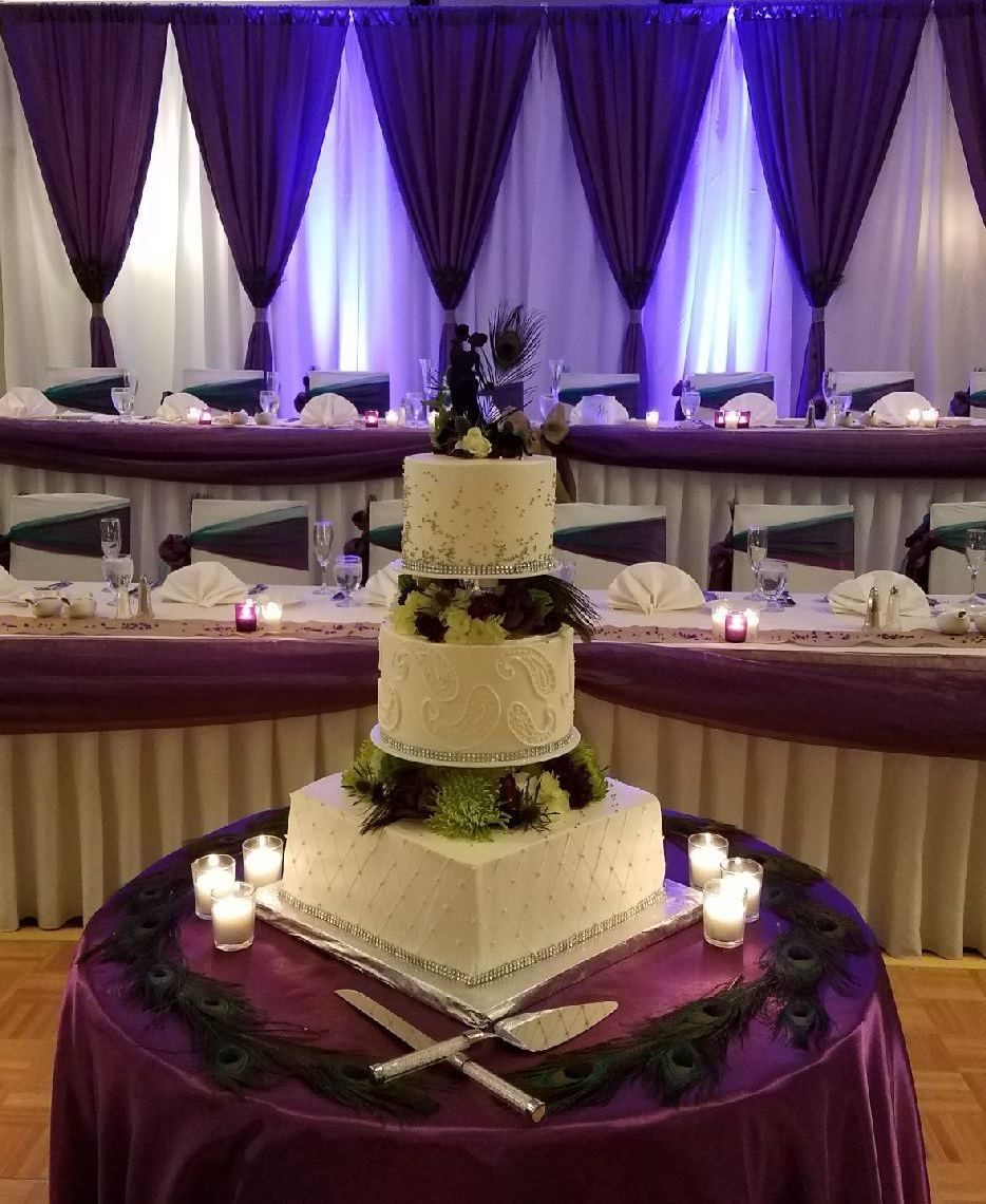 Purple Wedding Ideas With Pretty Details: The Deep Purple Of This Peacock-inspired Wedding Makes