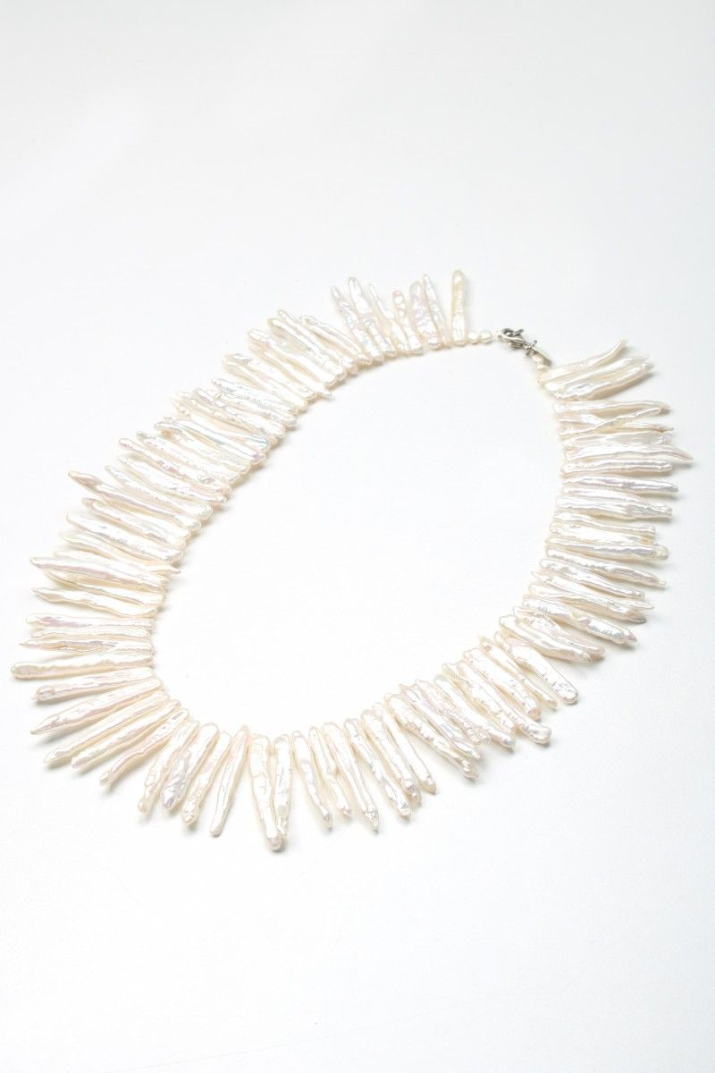 collier perle tombante