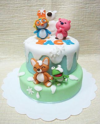 Mom Daughter Cakes Pororo Cake For 1 Year Old Zach Cakes