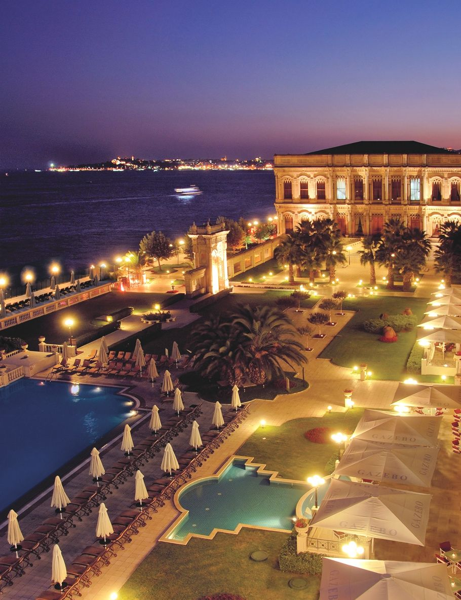 Stay at ciragan palace kempinski istanbul 5 star hotel situated on the shores of the bosphorus between the districts of besiktas and ortakoy