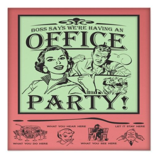 Funny Office Party Invitation Corporate Office Christmas Parties