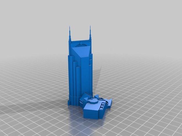 model of Batman building (AT&T) in Nashville