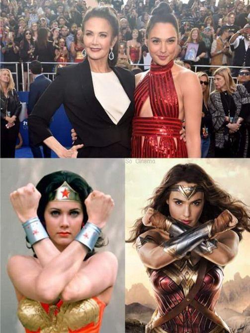 Lynda Carter Gal Gadot Comicmovies Comic Movies Wonder Woman Wonder Woman Comic Wonder Woman Pictures Gal Gadot Wonder Woman