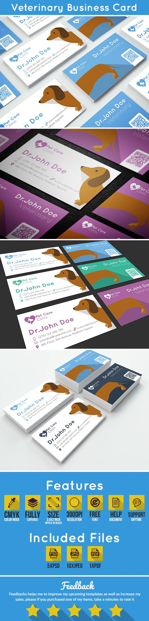 Veterinary Business Card | Pet care, Change colour and Card templates