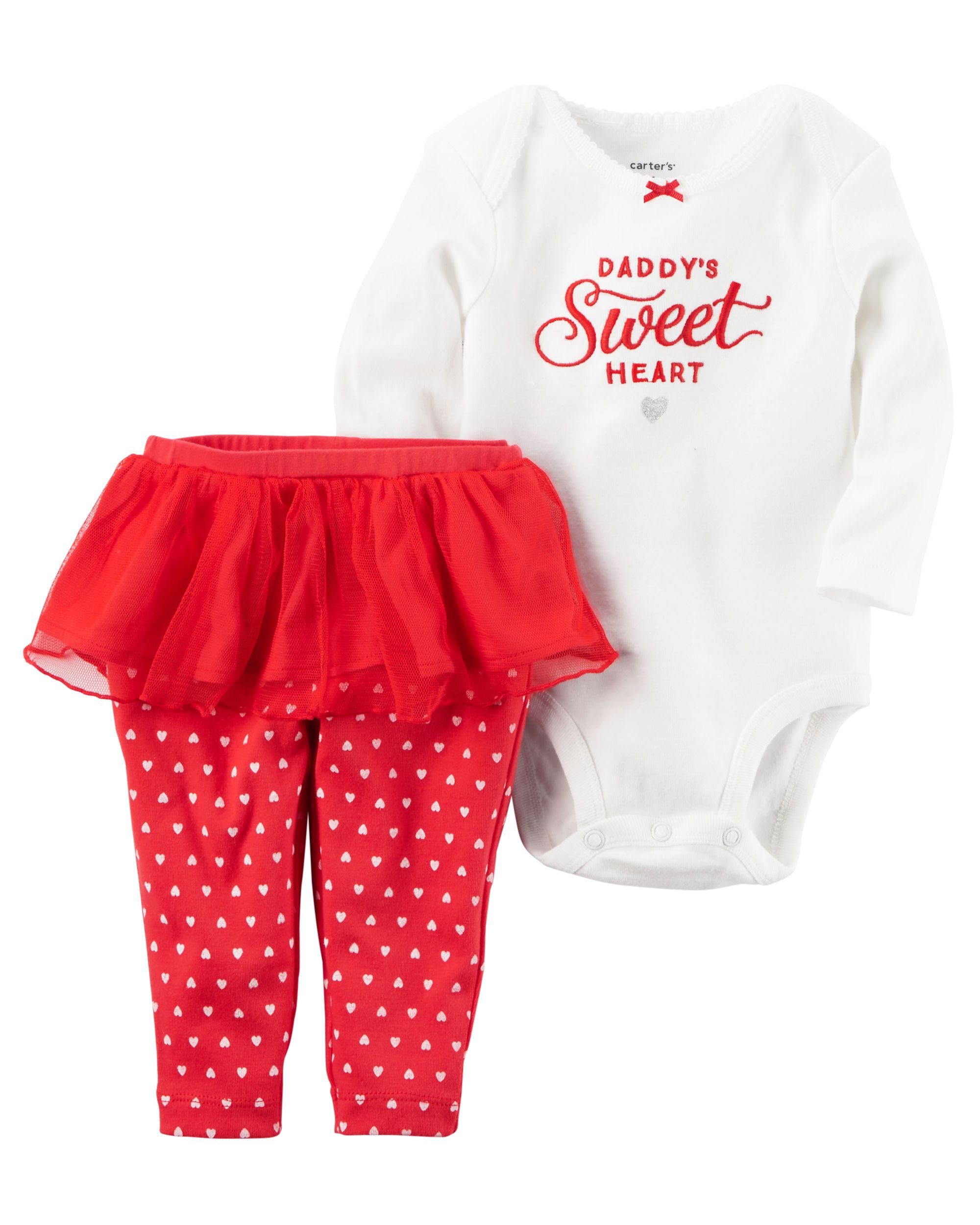 4a10eda7f 2-Piece Bodysuit   Tutu Pant Valentine s Day Set