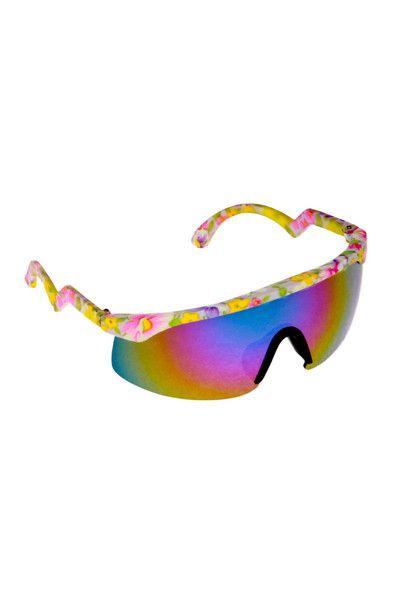 7aed044f0b Neon Flower Blades 90s Sunglasses