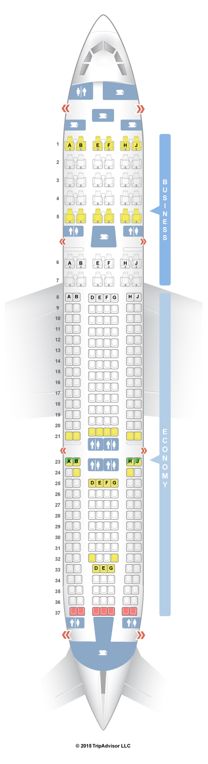 SeatGuru Seat Map Garuda Indonesia Airbus A330300 (333