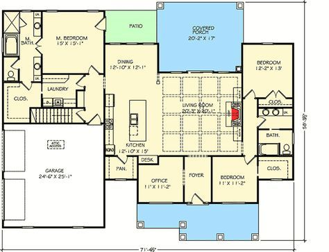 Plan 77615fb One Story Exclusive New American House Plan New House Plans House Plans How To Plan