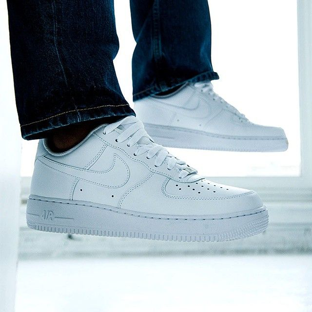 The white on white Air Force 1 is the blank canvas for your