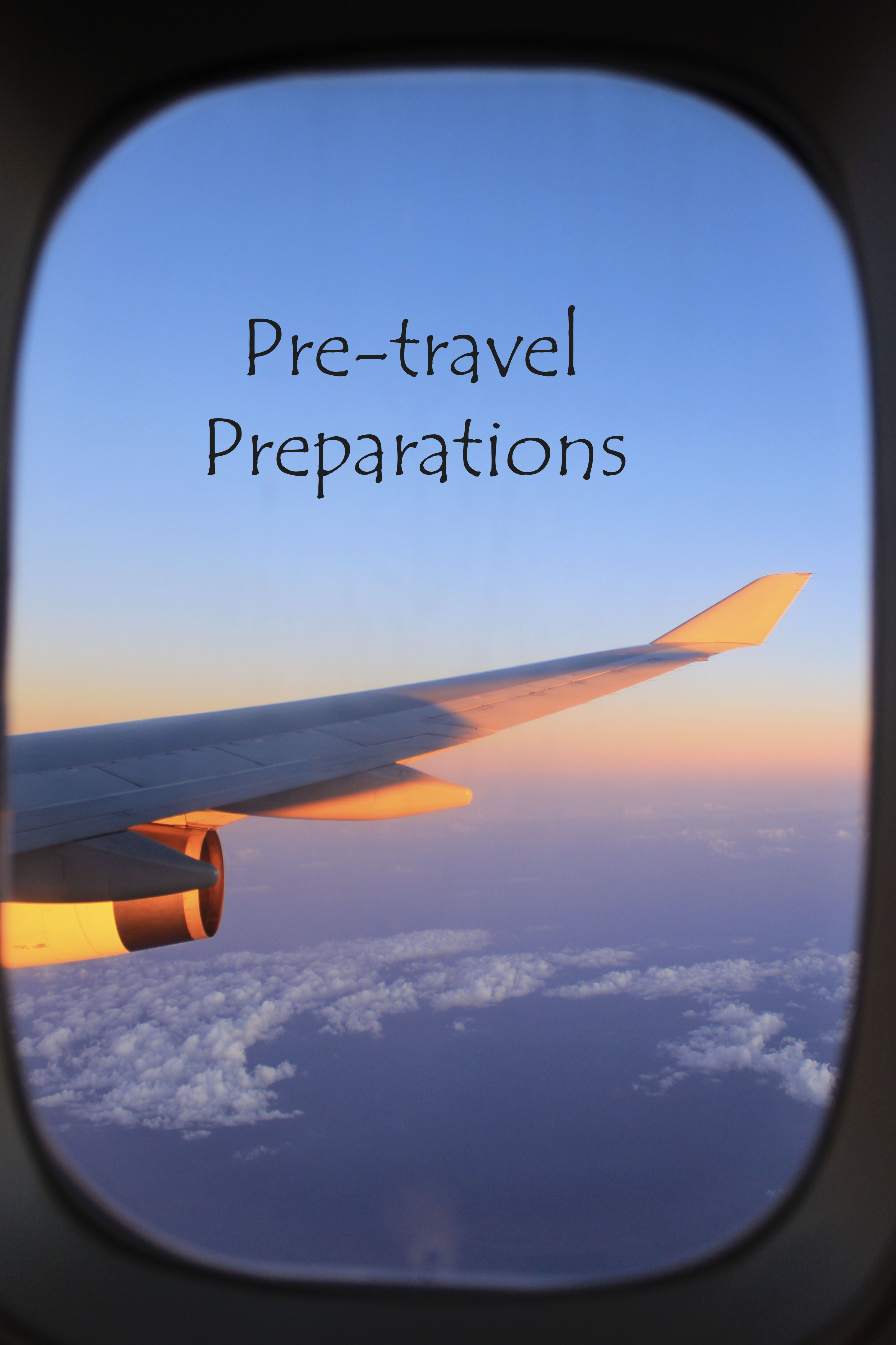 Want to make sure you have done everything needed before travelling? Check out this list and timeline http://aworldofbackpacking.com/pre-travel-preparations/