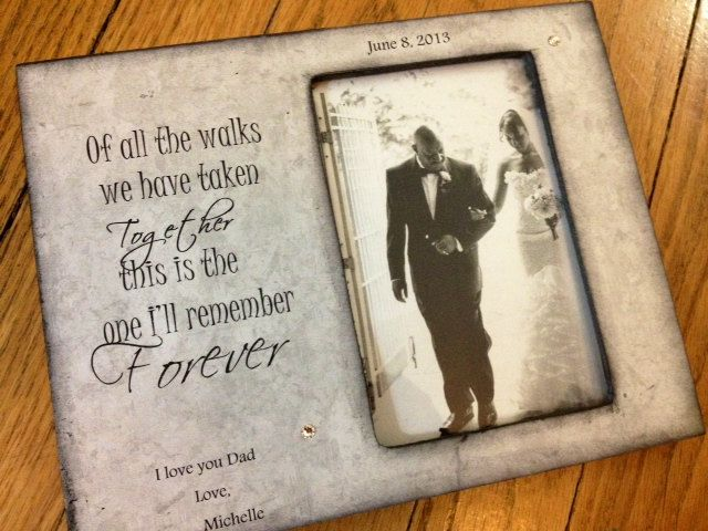 Father Daughter Wedding Walking Down Aisle Picture Frame 4x6 Gift ...