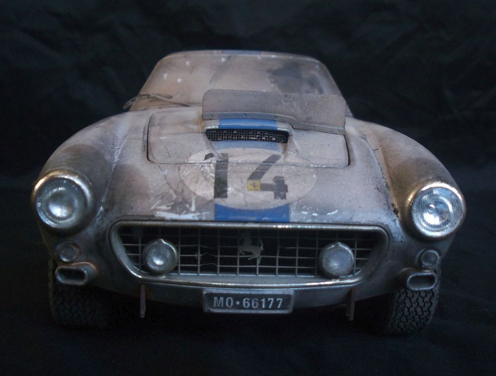 Ferrari 250 GT Racing Barn Find Custom Weathered Unrestored Hot Wheels 1 18 HotWheels