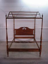 29881 Ethan Allen Solid Maple Full Size Canopy Bed Girls Bed