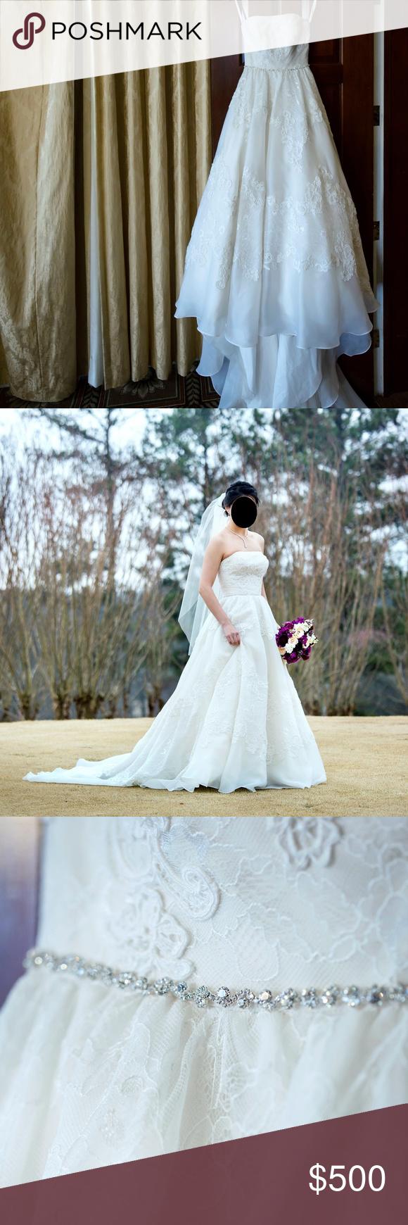 Melissa Sweet Satin Organza and Lace Wedding Dress | Melissa sweet ...