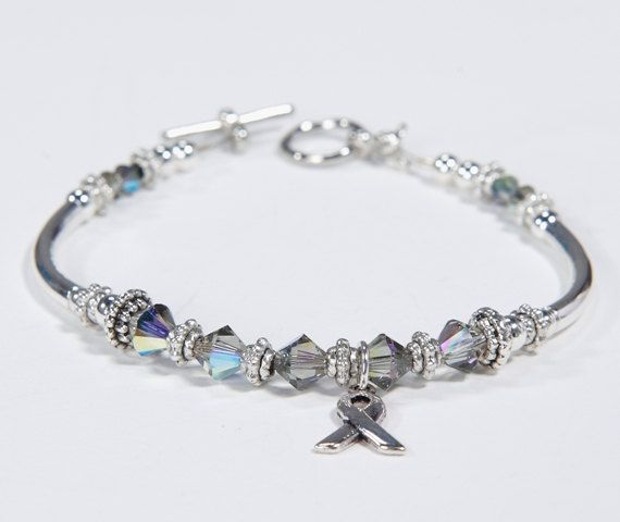 Dyslexia Awareness Silvers: Parkinsons And Brain Cancer Awareness Charm Bracelet