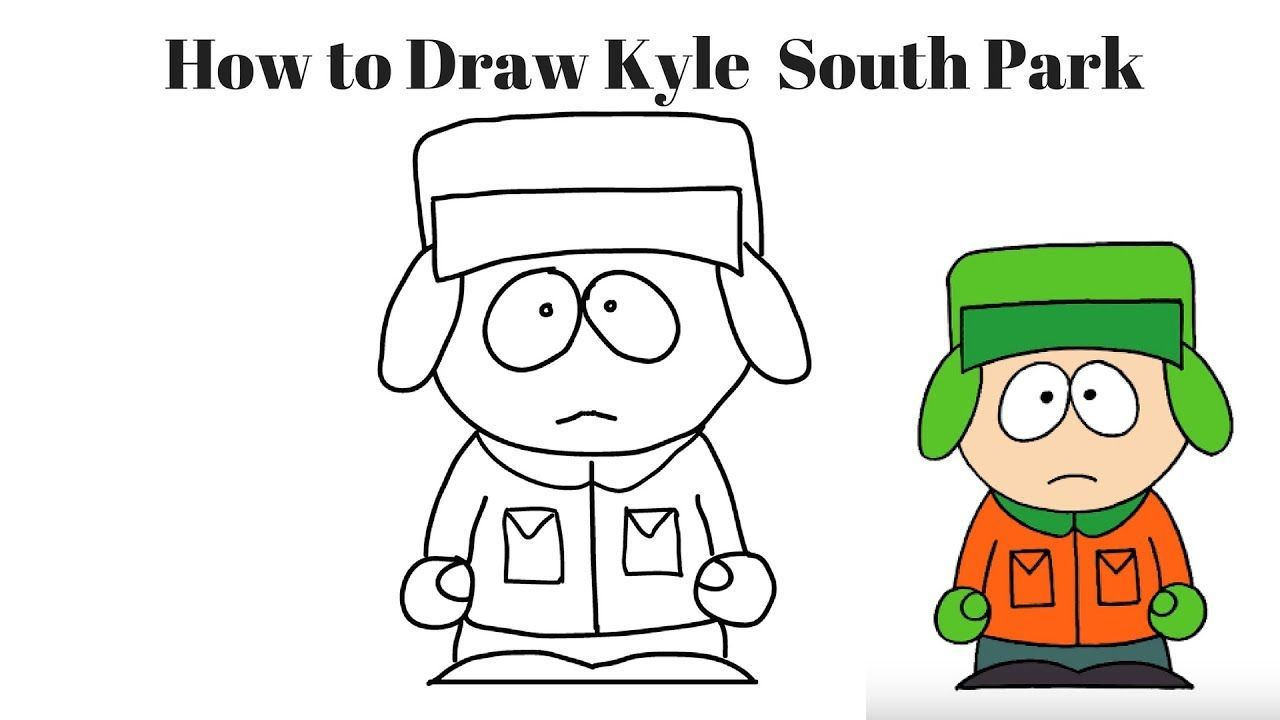 How to Draw Kyle South Park Easy Step by Step Kyle