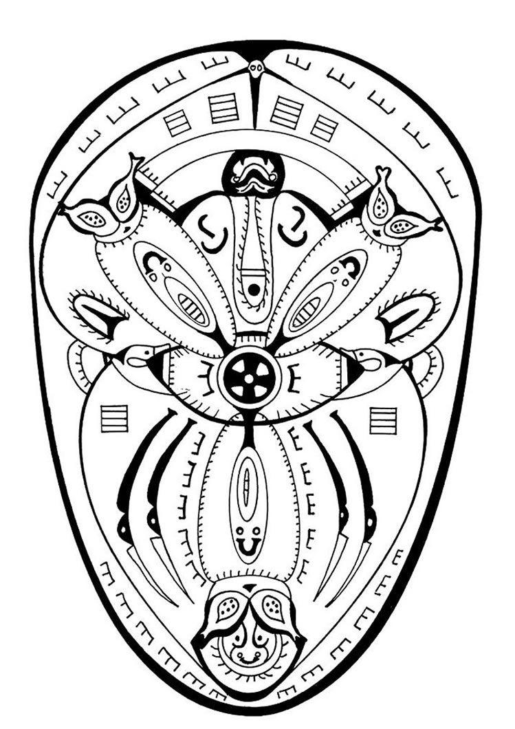Countries Mandalas Polynesian Mandala Mandala Coloring Pages Mandala Coloring Coloring Pages