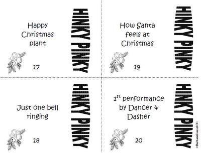 Christmas Hink Pinks, Hinky Pinkies, Hinkity Pinkities ...