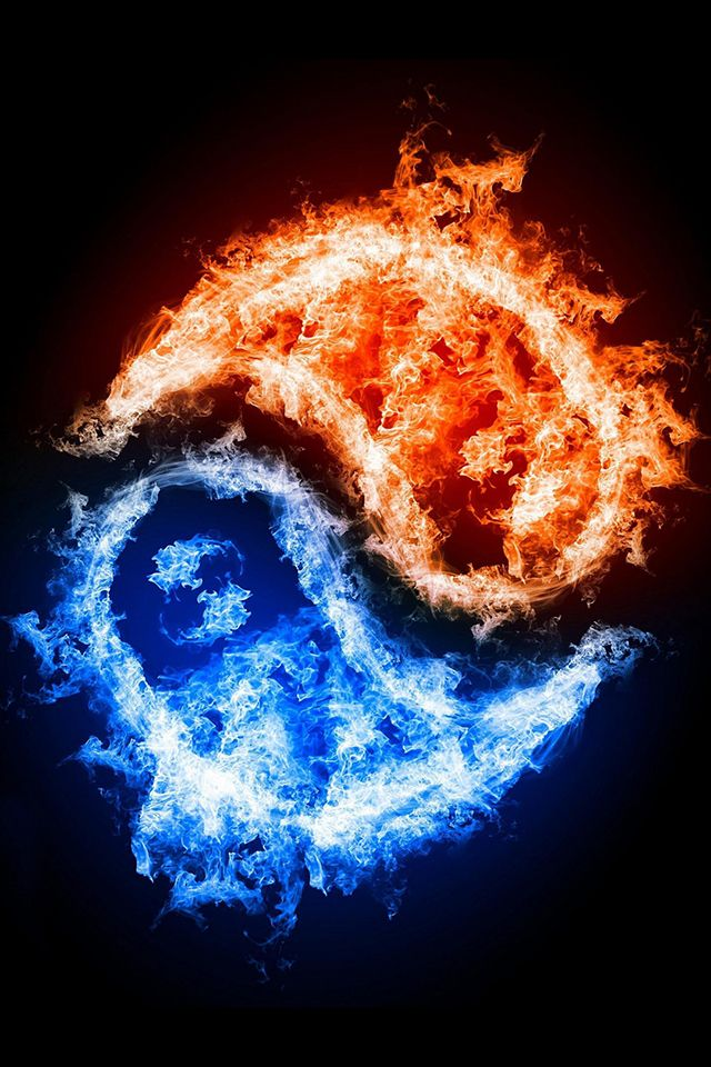 Yin Yang Fire Iphone Wallpaper Hd Ying Yang Wallpaper Yin Yang Fire And Ice Wallpaper