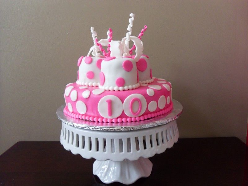 Pink and white birthday