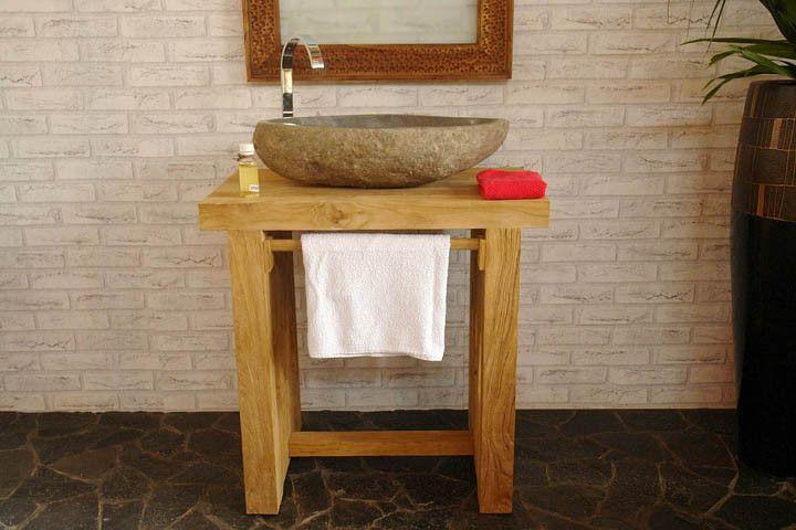 Waschtisch+Unterschrank+Badezimmer+Teakholz+Möbel+von+suwarnik+auf+ - badezimmer waschbecken mit unterschrank