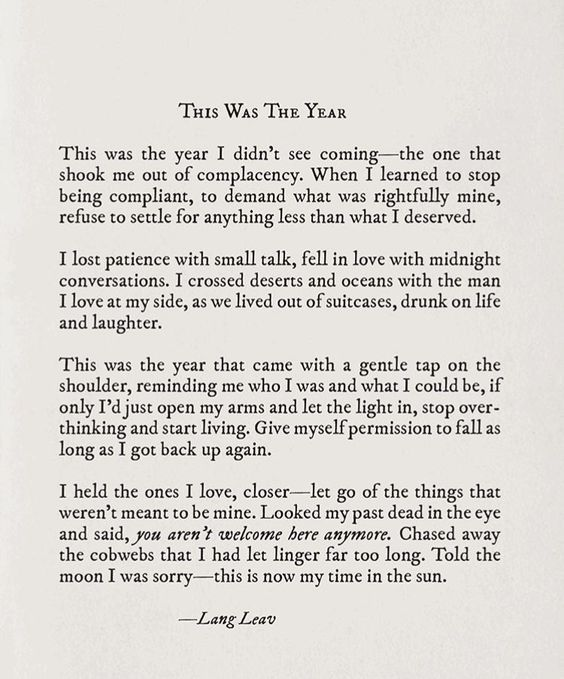 This was the year – Lang Leav