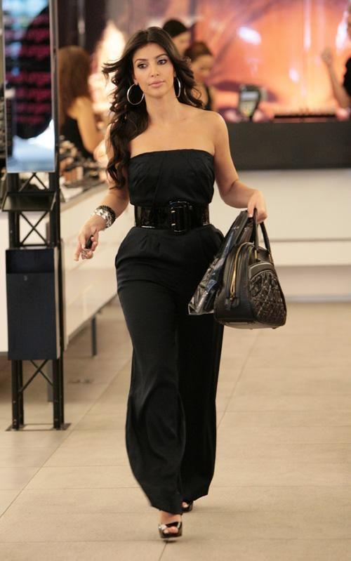 Black dress kim kardashian jumpsuit