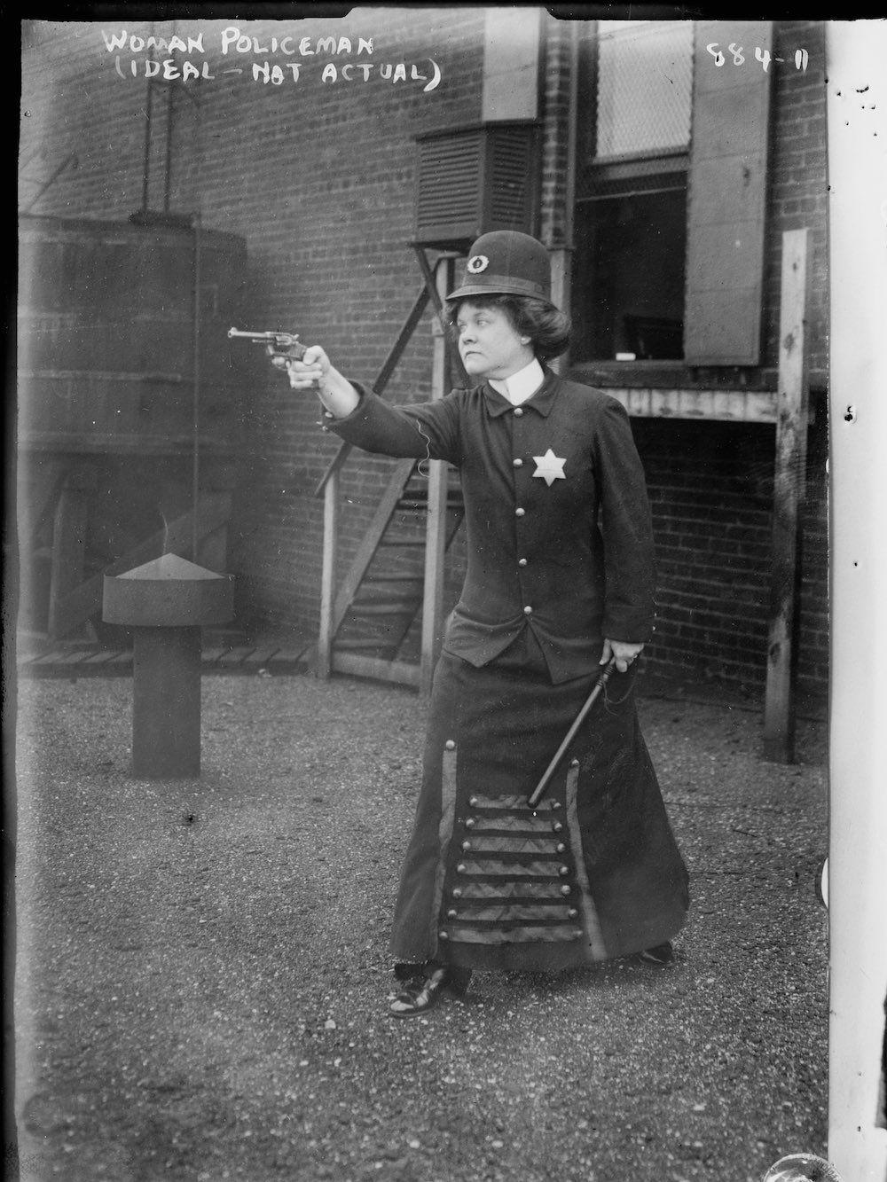 Policewoman of the future. Cincinnati, 1909.
