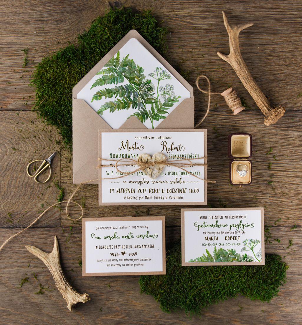 Zaproszenia ślubne Otwarte Jednokartkowe Inspiracja Pinterest