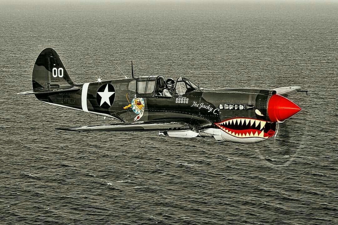 P40 Flying Tiger Vintage Aircraft Aircraft Wwii Airplane