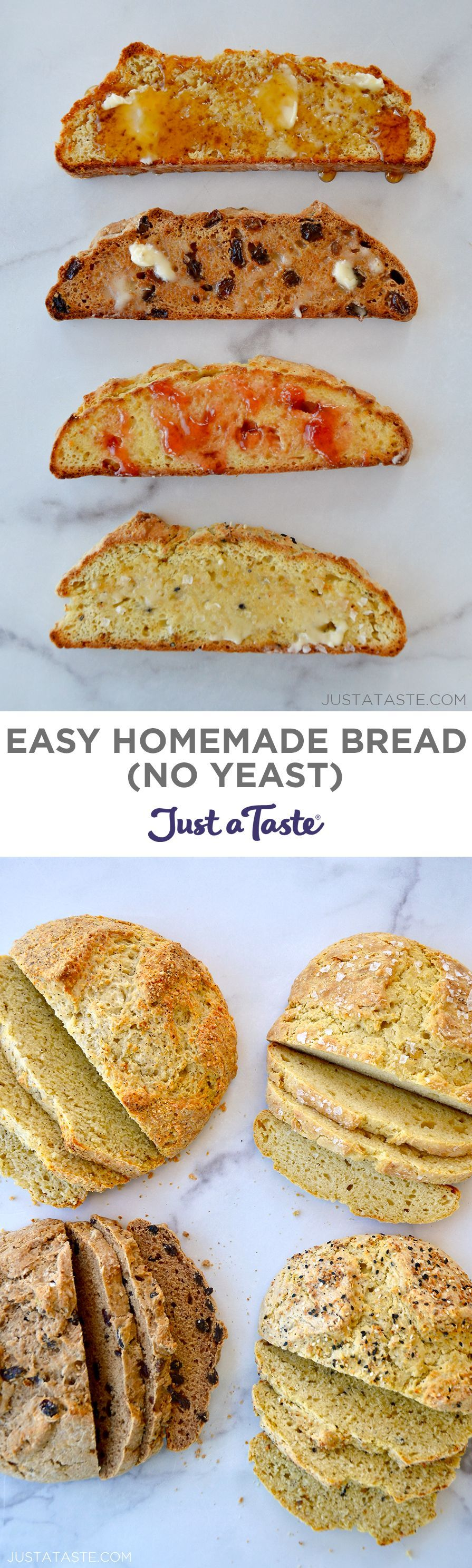 How to Make Homemade Bread Without Yeast in 2020 ...