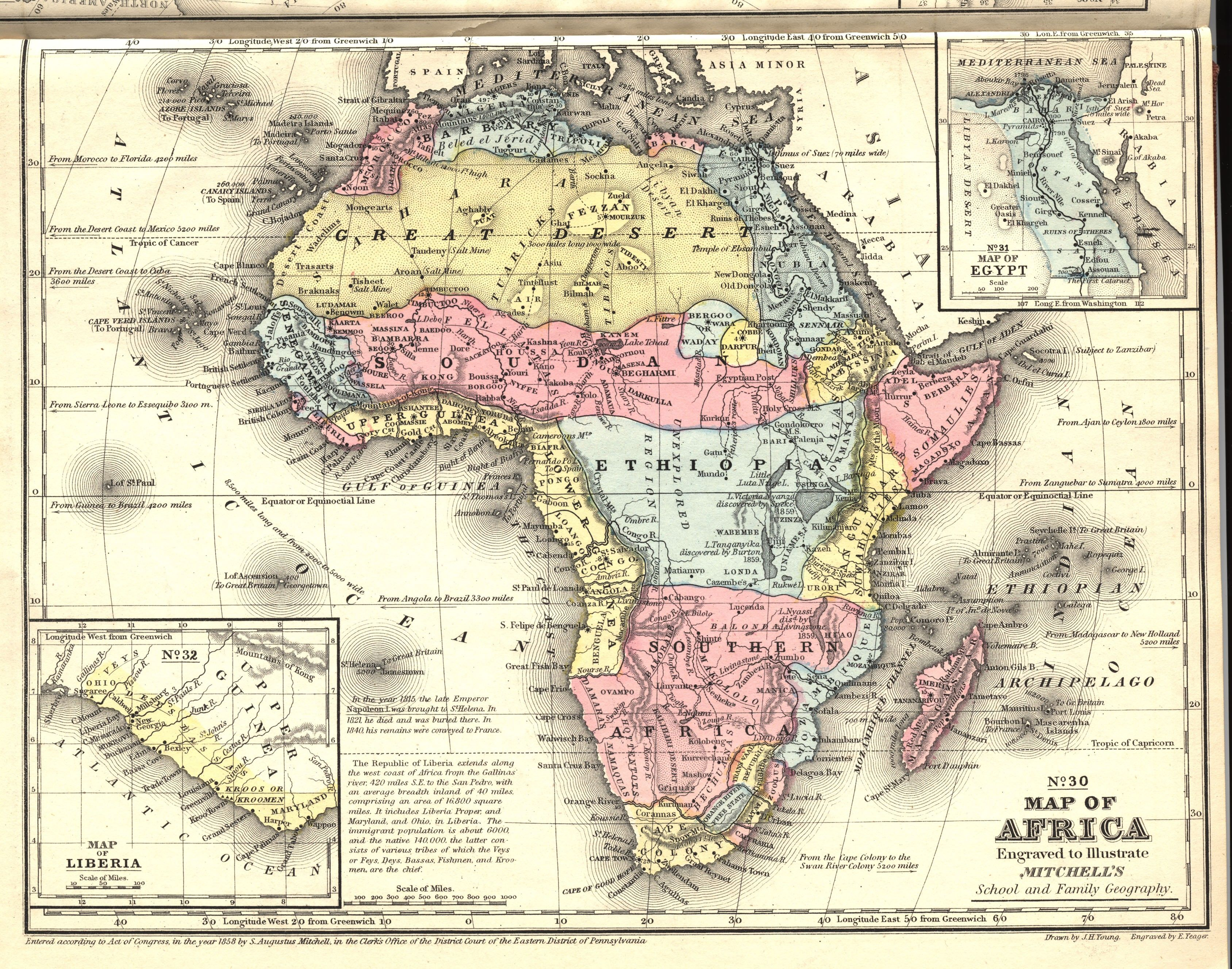 Map Of Pre-Colonial Africa Pre Colonial Africa, 1858 [3375 × 2655] | Africa map, Old book art