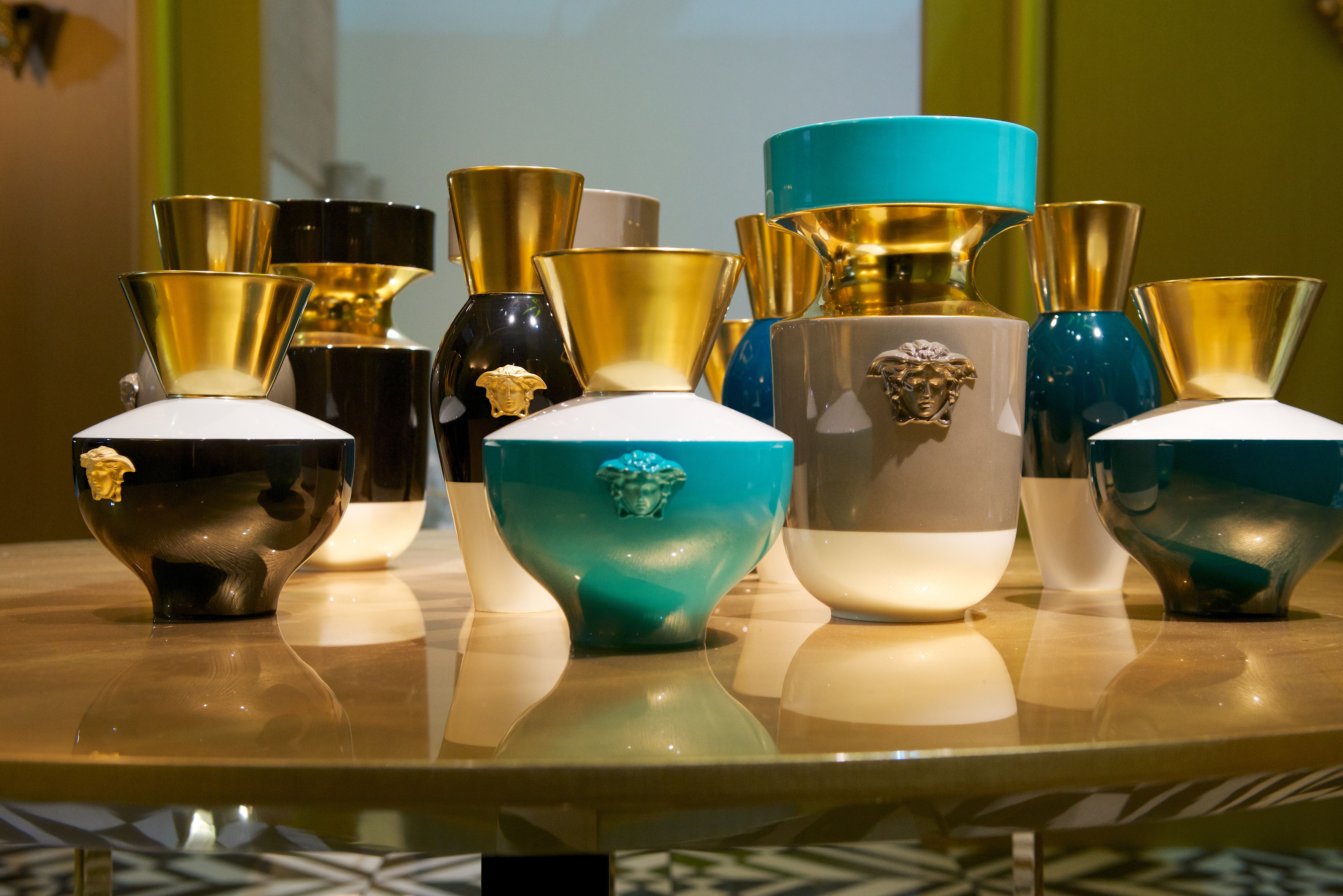Mobili Versace ~ Vases from the new versace home collection versacehomewear