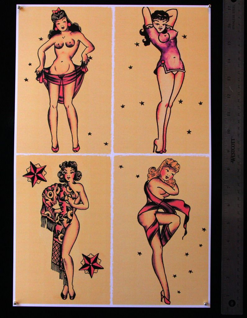 Asian girl pinup tattoo think, that