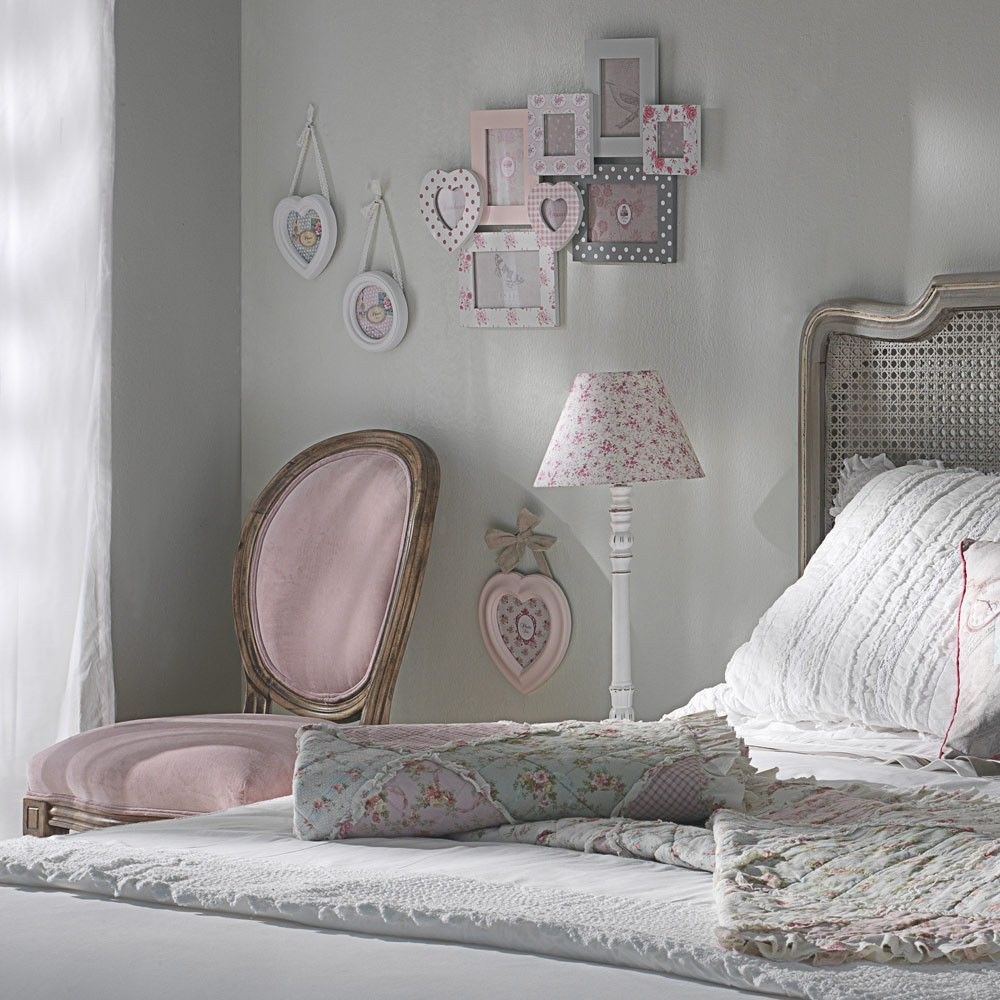 Chaise m daillon en velours rose chaise medaillon h v a for Chambre vieux rose