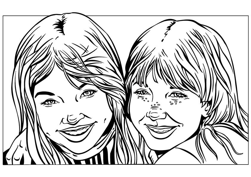 Twin Sisters Free Printable Coloring Pages Coloring Pages For Girls Printable Coloring Pages