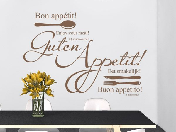 Guten Appetit - Wandtattoos für die Küche - Kreative Auswahl an ...