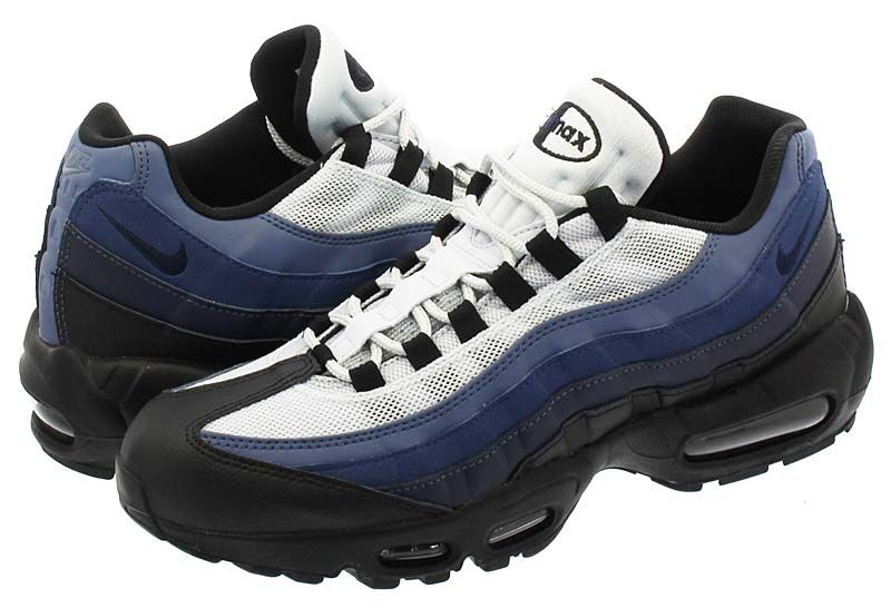 NIKE AIR MAX 95 ESSENTIAL  BLACK   OBSIDIAN   NAVY BLUE   PURE PLATINUM   749766-028 0564fa969