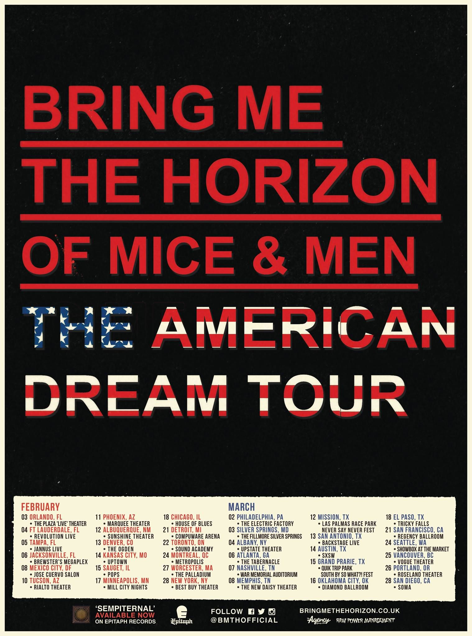 Bring Me The Horizon Of Mice And Men The American Dream Tour Jpg 1 518 2 048 Pixels Bring Me The Horizon Of Mice And Men Bring It On