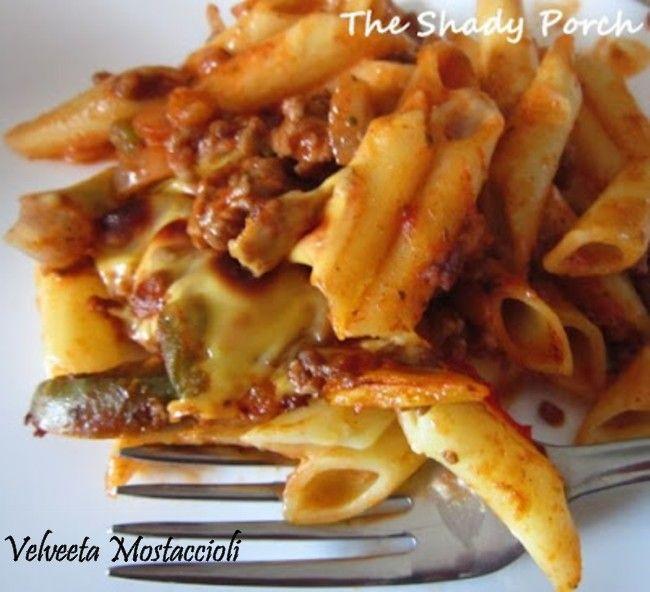The Shady Porch: Velveeta Mostaccioli...a longtime family favorite
