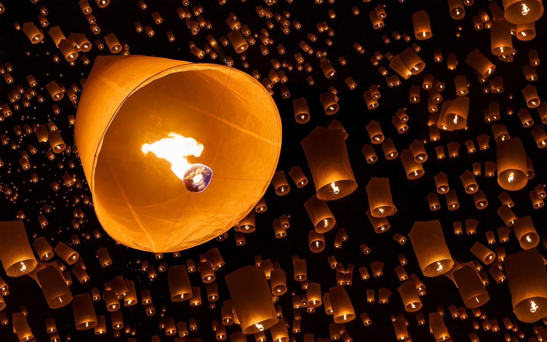 night sky lanterns paper fire wallpaper | Photography HD ... for Flying Lantern Lights  111ane