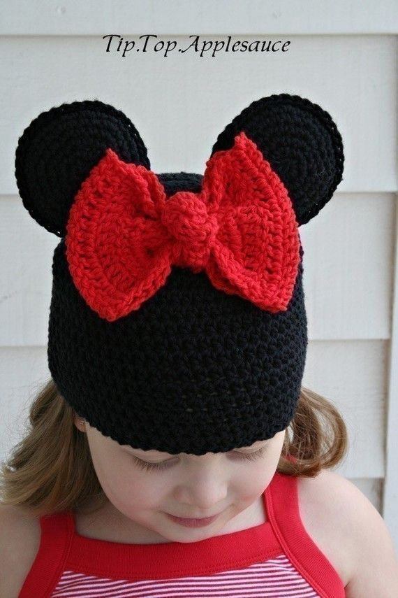 minnie beanie. Hailey an Brooklyn for our trip | toucas de crochê ...