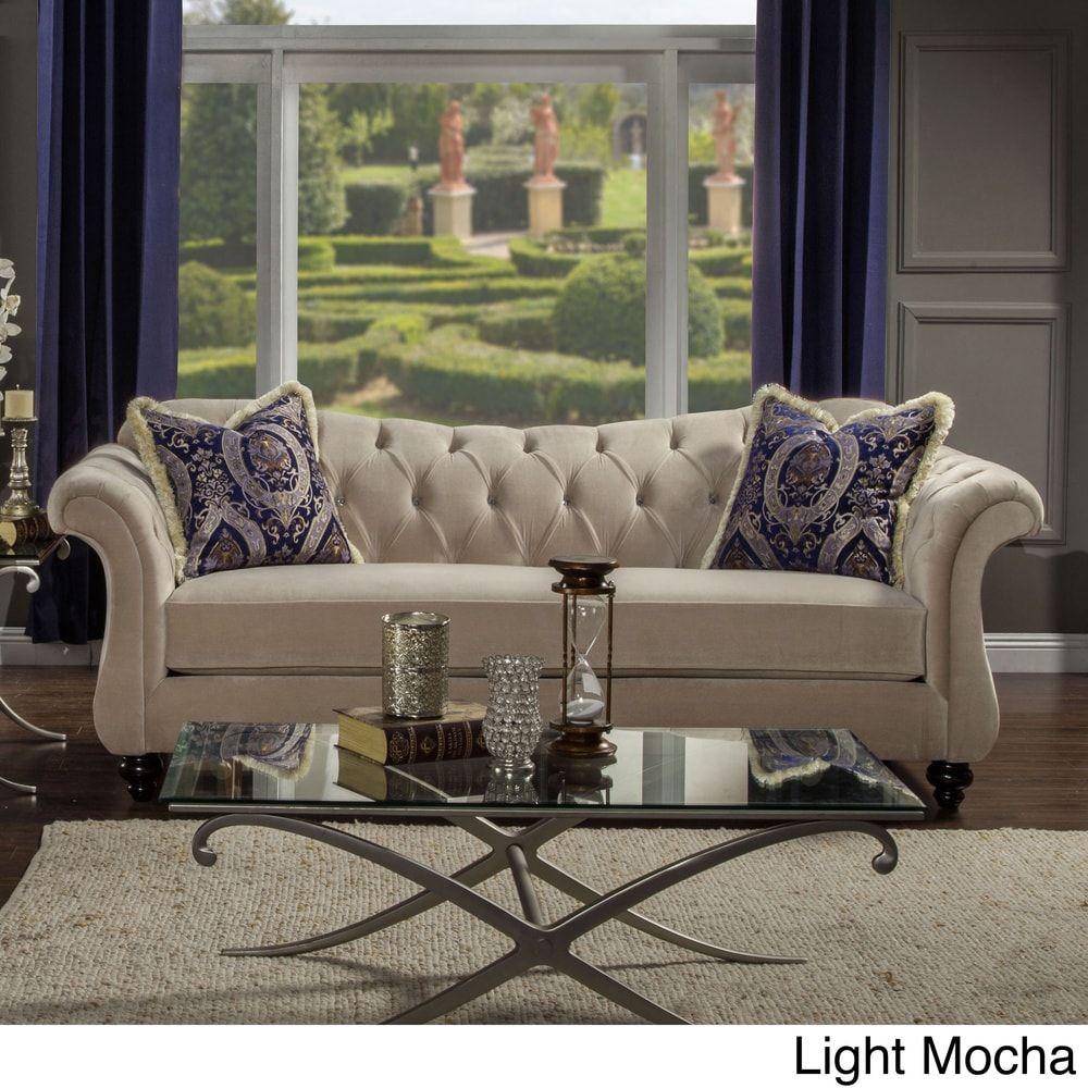 Lovely Furniture Of America Agatha Traditional Tufted Sofa | Overstock.com  Shopping   The Best Deals