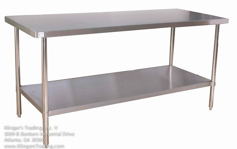 All Stainless Steel Commercial Kitchen Prep Table Kitchen Table Metal Metal Interior Design Stainless Steel Work Table