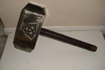"""hollow metal """"Thor"""" hammer for a play prop the hammer ..."""